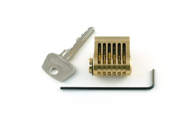 Practice cut away 6 pin euro lock